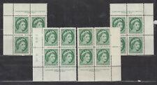 1954 #338 2¢ QUEEN ELIZABETH II WILDING PORTRAIT PLATE BLOCK #6 F-VF