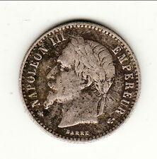 NAPOLEON III TETE LAUREE 50 CENTIMES ARGENT 1868 A  Qualité !!