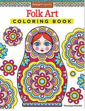 Folk Art Coloring Book, Paperback, New