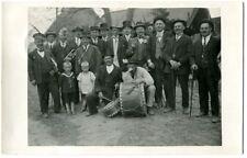 Ak Groß Ziethen Velten Männer-Gesellschaft vor Häusern Festumzug 1929 Foto