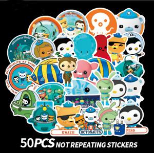 Xmas Kids 50PCS OCTONAUTS PVC Removable Stickers Barnacles Kwazii Birthday Party