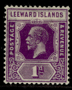 LEEWARD ISLANDS GV SG61, 1d bright violet, M MINT.