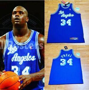 Lakers Blue Jersey Shaq Nike Authentic DS Kobe West SZ-2XL 2000 Rare