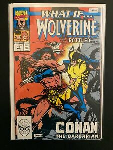What If...? #16 1990 Wolverine Battled Conan High Grade 9.2 Marvel Comic CL91-48