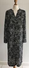 Ladies Black Printed Long Shirt Dress Size 12 Eur 40 new George