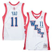 Yao Ming Mitchell & Ness 2004 NBA All Star West Auténtico Blanco Jersey para hombre