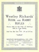 Westley Richards & Co. 1920 Rook and Rabbit Rifles