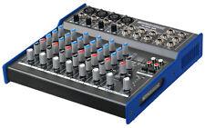 8 Channel Stereo Music Mixer Mixing Unit XLR Jack Dj Pa FX Output Live Rehersal