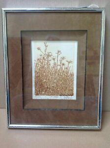 """Mid-Century Limited Edition """"Ruth Leaf"""" Etching """"Thistle"""" W/Exhibition Label"""