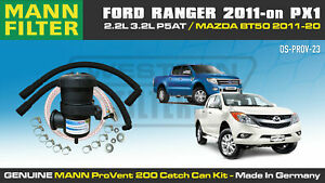 ProVent Oil Catch Can Kit for Ford Ranger PX1 2.2L 3.2L All Mazda BT50 2011-on