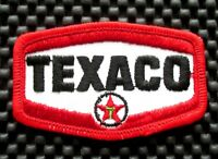 """TEXACO EMBROIDERED PATCH GAS OIL PETROLEUM ADVERTISING COLLECTIBLE 3 1/4"""" x 2"""""""