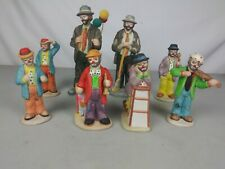 Lot Of 8 Emmet Kelly Jr Clown Flambro Collectible Figurines - Gifts
