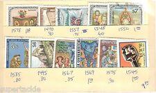 AUSTRIA 10 Θ used stamps #1578 1470 1557 1548 1550 1585 1495 1567 1569 1575 1545