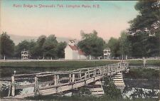 LIVINGSTON MANOR, NY (SULLIVAN COUNTY) ~ RUSTIC BRIDGE to SHERWOOD PARK ~ 1908