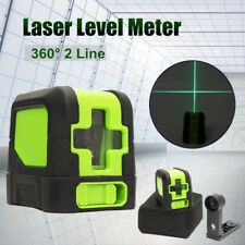 360° 2 Line Rotary Laser Self Leveling Vertical Horizontal Level Green Measure