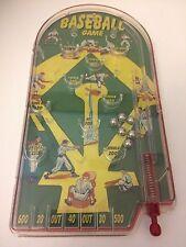 "Classic Pinball Baseball Game Schylling 2007 Handheld Metal & Plastic 10x5"""