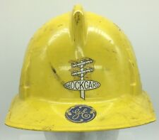 Vintage MSA Shockguard GE General Electric Yellow Hard Hat Safety Helmet
