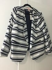 * MILLERS  *  NAVY / WHITE STRIPED JACKET ( NEW WITH TAGS  ) SIZE 18