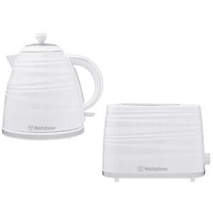 Westinghouse Toaster 2 Slice & Cordless 1.7L Kettle Jug White Electric Combo Set