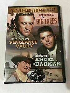 3-1 The Big Trees/ Vengeance Valley /Angel And The Bad Man DVD Brand New