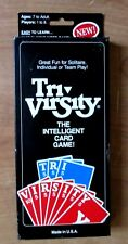 Tri Virsity Intelligent Card Game Spelling + Rules Instructions 1988