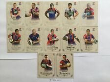 2018 NRL GLORY NEWCASTLE KNIGHTS COMMON BASE TEAM SET OF 12 CARDS