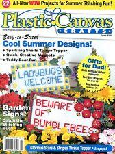Plastic Canvas Crafts Magazine ~ June 2000, 22 plastic canvas projects