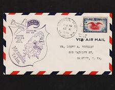 1939 First Flight AM 40 Memphis Tenn. to Grafton West Virginia