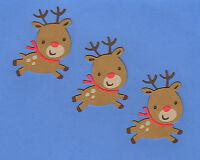 """Reindeer Die Cuts, 3"""" Group of 3 - Baby Reindeer Die Cuts - Christmas Die Cuts"""