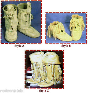Native American Shoshone Indian Moccasin in Short & Boot Height Sewing Pattern