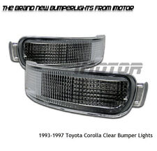1993-1997 Toyota Corolla LE/Base 4/5DR Sedan Wagon Chrome Bumper Signal Lights