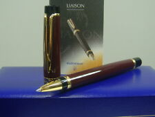〝EMS FREE SHIPPING〞WATERMAN LIAISON RUBY RED & GOLD TRIM Roller Ball Pen