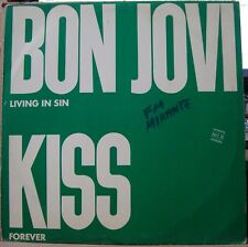 "BON JOVI Living In Sin KISS Forever 1990 12"" PROMO EDITION!LP Single BRAZIL"