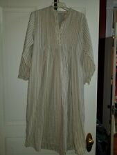 L.L. Bean Long Flannel Nightgown Pin Tucking Sz S Blue