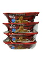 4  NISSIN CHOW MEIN BEEF TERIYAKI NOODLES 4oz FAST SHIPPING