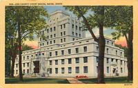 Vintage Linen ID Postcard C592 Ada County Court House Boise Idaho Street View