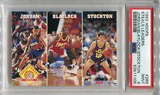 1993 Hoops Leaders #289 Michael Jordan John Stockton HOF Mookie Blaylock PSA 9