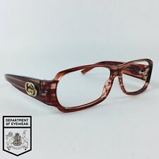 GUCCI eyeglasses STRIPED BROWN RECTANGLE glasses frame MOD: GG2935/S REAS2
