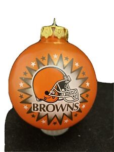 Cleveland Browns NFL Christmas ornament orange shatterproof ball