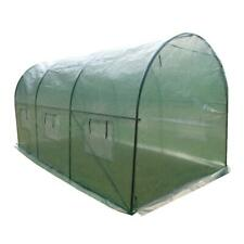 15'x7'x7' Greenhouse Large Walk-In Plant House Shed Garden Planting Steel Green