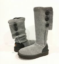UGG 1014460 CLASSIC CARDY CASHMERE BOOTS GRAY 100% CASHMERE KNIT -US 8 -NIB