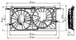 Engine Cooling Fan Assembly Global 2811536