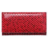 Women Genuine Leather Long Wallet Snake Pattern RFID Clutch ID Card Holder Purse