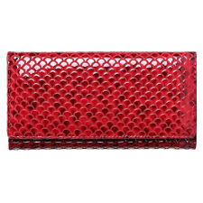 Women Genuine Leather Long Wallet Snake Pattern RFID Clutch ID Card Holder Purse