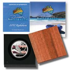 Discover Australia $1 2012 1 oz Colored Proof Silver Kookaburra Coin w/Mint Box