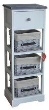 Aspect Nantes Frame Wicker Drawer Storage Unit Wood White
