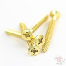 neck plate mounting screws / bolts (set of 4) - gold (4.2mm*45mm) Gd