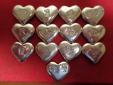 1 Troy ounce .999 fine silver. Hand poured Zodiac Sign Heart design ingot   MFS