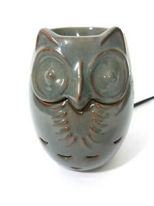 PartyLite Ceramic Owl ~ Electric Scent Glow Wax Melts Warmer (P91519) ~ EUC