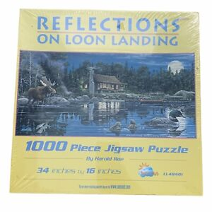 "1000 Pc. Puzzle -""REFLECTIONS ON LOON LANDING"" By Harold Roe New"